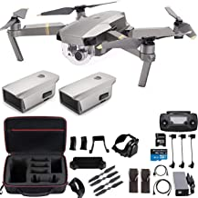 $999 » DJI Mavic Pro Platinum with Extra Battery and Professional Case, Flagship 4K Quadcopter Drone with 30 Mins Flight Time, 7 km Range, Obstacle Avoidance and More
