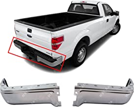 MBI AUTO - Chrome, Steel Rear Left & Right Bumper Ends Set for 2009-2014 Ford F150 Pickup 09-14, FO1102374