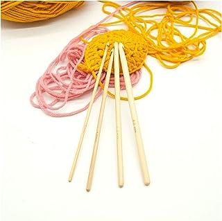 MHXY Crochet 4pcs / Set 3/4 / 5 / 6mm Crochet en Bois de Crochet de Crochet en Bois à Tricoter Outil Tricoter Outil Tricot...