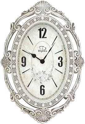 LIU Retro Luxury Wall Clock Creative Personality Noble Gift Decorative Living Room Restaurant Clock