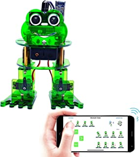 KEYESTUDIO Smart Robot Kit with Arduino Nano baord, Frog Dancing Programmable DIY Robot Kit for Kids and Adults with Tutorial