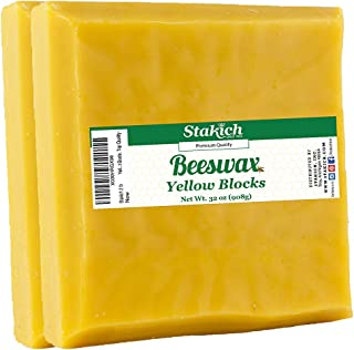 Stakich Yellow Beeswax Blocks - Natural 2 Pounds