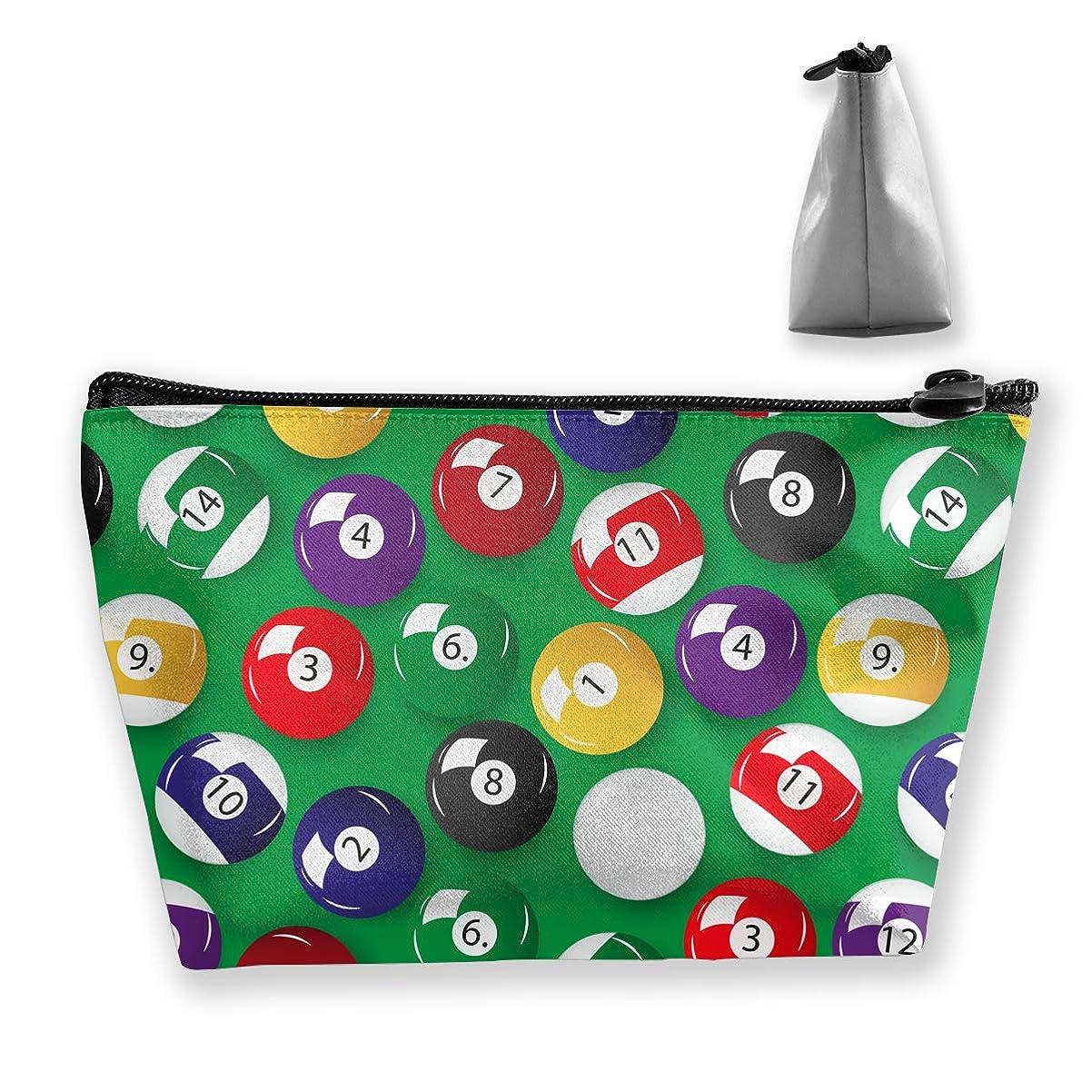 機動れる傘ビリヤード 台球 総柄 台形 化粧ポーチ メイクポーチ コスメポーチ 化粧品収納 軽い 防水 便利 小物入れ 携帯便利 多機能 バッグ