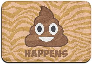 Soft Non-slip Poop Happens Emoji Bath Mat Coral Rug Door Mat Entrance Rug Floor Mats For Front Outside Doors Entry Carpet ...