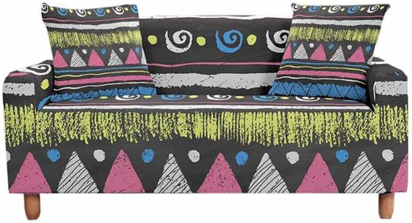 ZHOUMOLIN Vintage Geometric Stripe Anti-dust Sofa Slipcove Limited time sale Cover Virginia Beach Mall