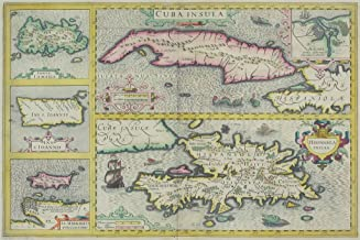 Cuba and Caribbean Islands Antique Style Map Cool Wall Decor Art Print Poster 18x12