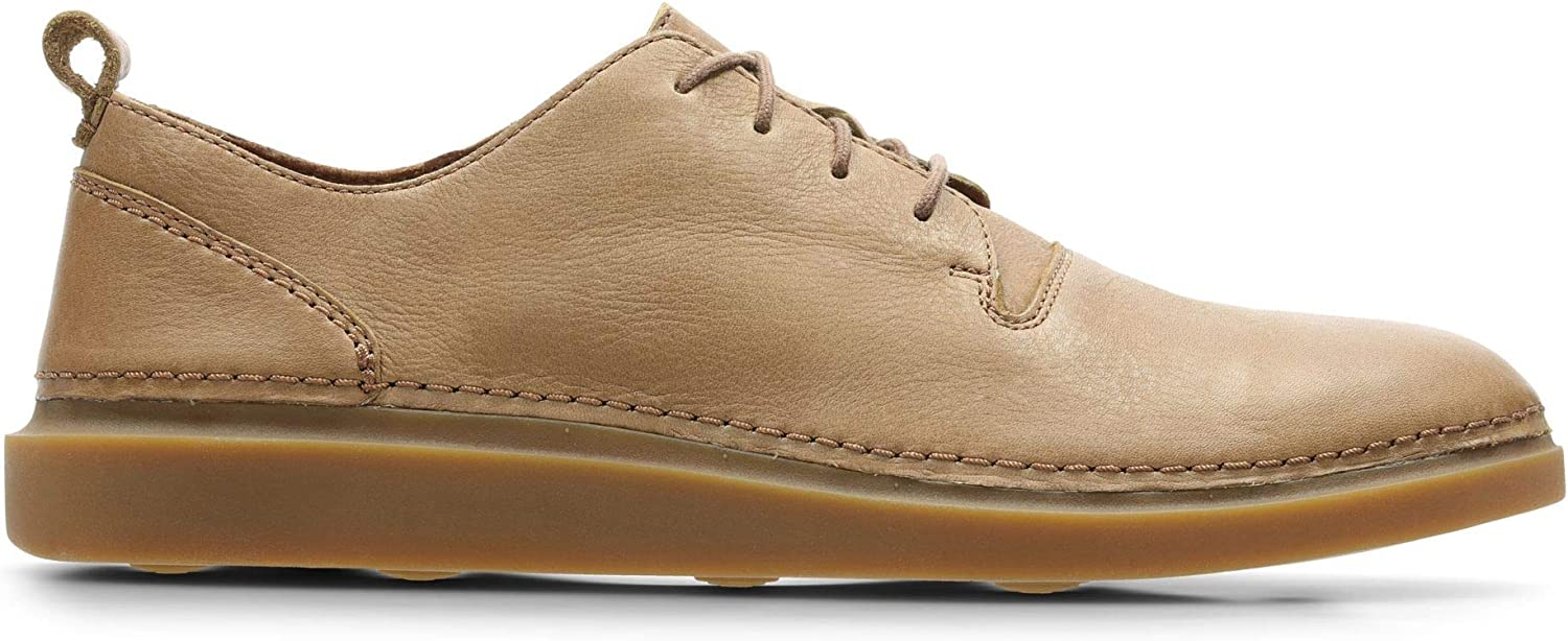 Clarks Hale Lace Leather shoes in Tan