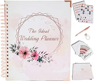 $34 » Wedding Planner Book and Organizer For The Bride - Rose Gold Kit - Engagement Gifts for Women - Bride To Be Gifts for Her...