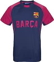 FC Barcelona Official Soccer Gift Mens Poly Training Kit T-Shirt