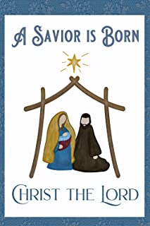Christmas A Savior is Born Christ The Lord Decorative Garden Flag, Double Sided, 12