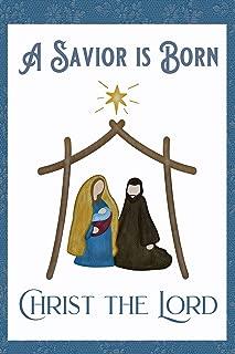 Christmas A Savior is Born Christ The Lord Decorative Garden Flag, Double Sided, 12