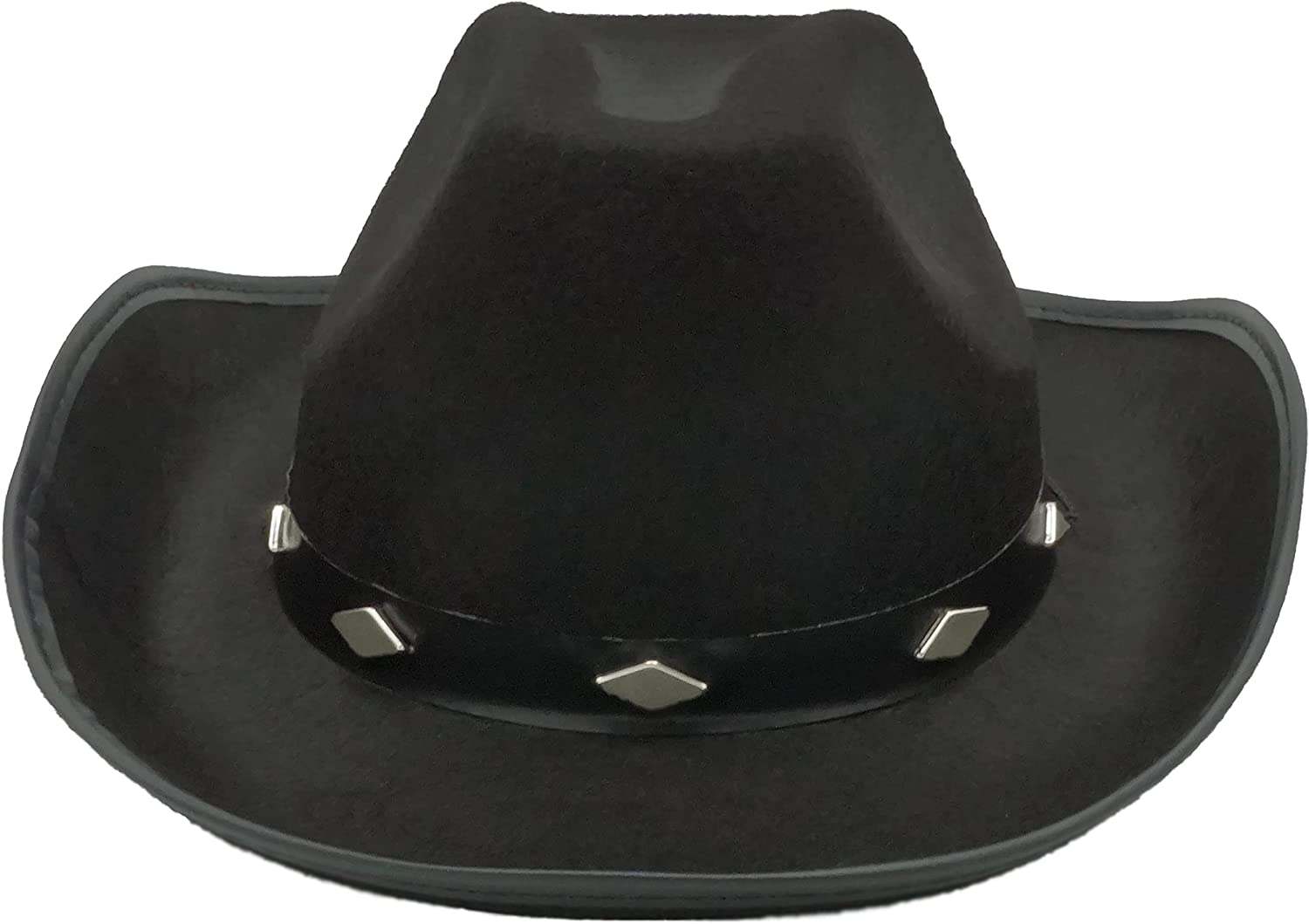 Black Cowboy Hat for Men Women Adults Teens, Felt Studded Cowgirl Hat for Women Western Party, Cowboy Costume Hat