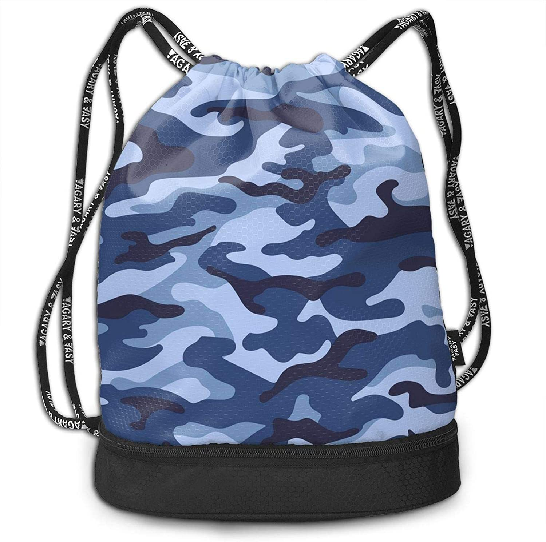 Gugaa Camouflage Sport Gym Sack Drawstring Bag Outdoor Shopping Satchel Rucksack Drawstring Backpack Daypack