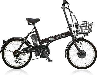AIJYU CYCLE 折りたたみ電動アシスト自転車 パスピエ20R シマノ6段ギア 20インチ 5Ahリチウムイオンバッテリー 型式認定車両(TSマーク) (ブラック)