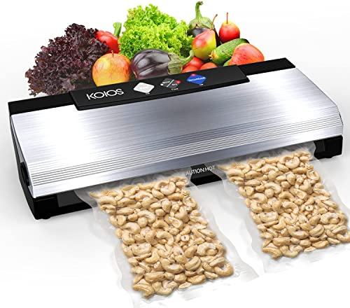 new arrival KOIOS Vacuum Sealer Machine, 85kPa Automatic lowest Food Sealer for Food Savers discount with Starter Kits, Dry & Moist Food , Easy to Clean, Compact Design and Built-in Cutter outlet online sale