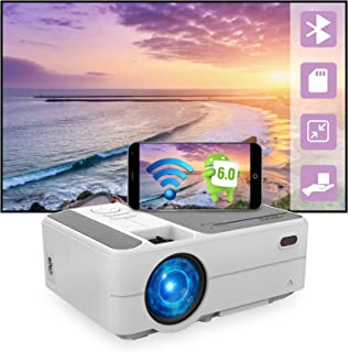 Mini Portable Pico Projector 3200 lumens Android 6.0 WiFi Bluetooth Full HD 1080p Video Projector LCD LED Smart Proyector ...