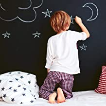 Tempaper CH10587 Chalkboard Removable Peel and Stick Wallpaper, 28 sq ft, Black