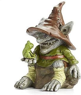 Merle, Troll with Frog for Miniature Garden, Fairy Garden