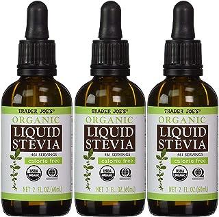Trader Joe's Organic Liquid Stevia Extract 2 Fl oz (Case of 3) - SET OF 4