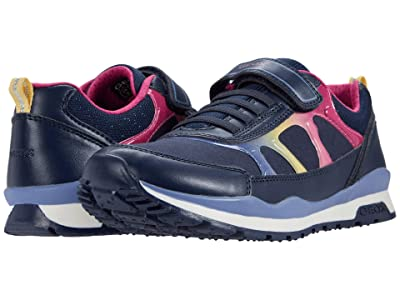 Geox Kids Pavel 9 (Big Kid) (Navy/Multicolor) Girl