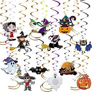 LOVEXIU Espirales De Halloween,Remolinos Colgantes Halloween,Decoración Colgante De Halloweenm, Halloween Murciélagos Cala...