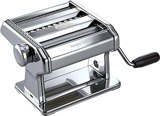 Marcato Ampia 150 Classic Máquina para Pasta Manual con Masa En Hoja, Fettu, Acero Cromado, Plata, 18.8 X 20 X 14 Cm