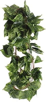 Fourwalls Polyester Artificial Green Ivy Vines/Leaves (10 cm x 10 cm x 250 cm, Green, Set of 5)