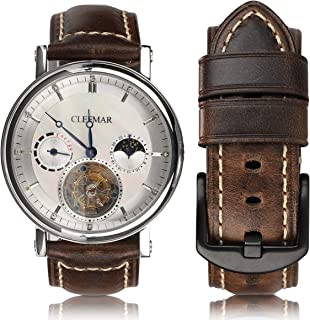 Quick Release Gear S3 Watch Band 46mm, retro leather Watch Strap 22mm ,Compatible Samsung Galaxy watch 46mm/Gear S3 Frontier/Moto 360 2nd Gen 46mm / Compatible all Watch 22mm(Retro coffee02, 22mm)