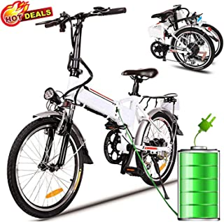 Hurbo Folding Electric Bike with Removable 36V 8Ah Lithium-Ion Battery,Lightweight and Aluminum Ebike with with 250W Powerful Motor and 7 Speed Shifter,Fast Battery Charger