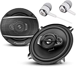"""TS-A1370F A Series 5.25"""" 300 Watts Max 3-Way Car Speakers Pair with Carbon and Mica Reinforced Injection Molded Polypropylene (IMPP) Cone Construction w/ ALPHASONIK Earbuds"""