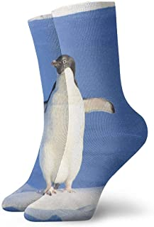 tyui7, Divertidos Iceberg Penguin Blue Water calcetines de compresión antideslizantes Cosy Athletic 30cm Crew Calcetines para hombres, mujeres, niños