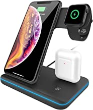 Innens 15W Wireless Charger Station, 3-in-1 Fast Wireless Charging Dock Stand for iPhone 11/11 Pro/11 Pro Max/Xs Max/XS/XR/8, Galaxy Note 10/10+/9, S10 S9 S8 Plus, Apple Watch, Airpods/Airdots (Black)