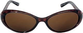 Foster Grant STU14332 FG115 Women's Oval Shape Sunglasses Tortoise Shell Brown Plastic Frame & Arms UV400 Brown Lenses 100% UV Protection CAT 2