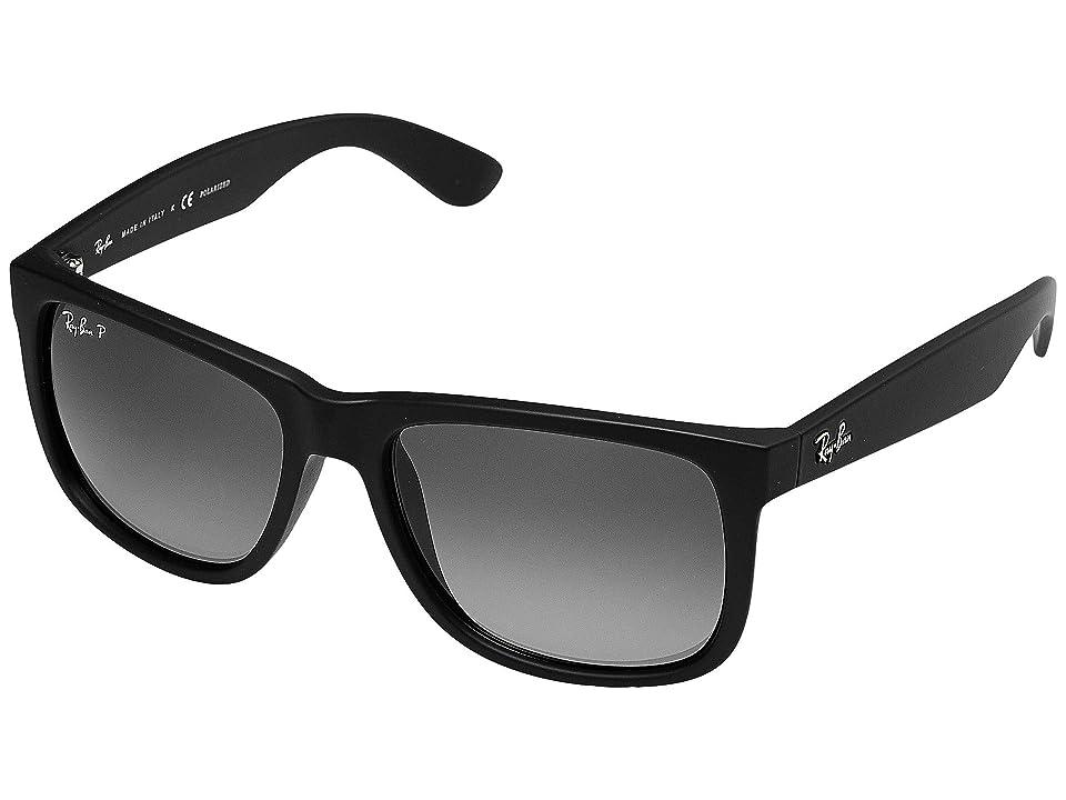 Ray-Ban RB4165 Justin 55mm (Dark Grey/Black) Fashion Sunglasses