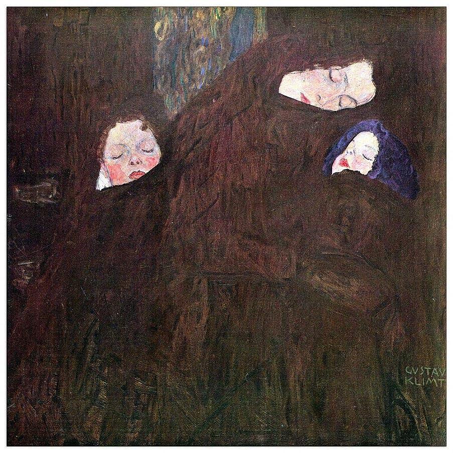 ArtPlaza TW90393 Klimt Gustav - Mother with Children Decorative Panel 43.5x43.5 Inch Multicolored