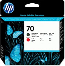 HP Printers 70 C9409A Matte Black & Red Printhead Use In Selected Hp Designjet