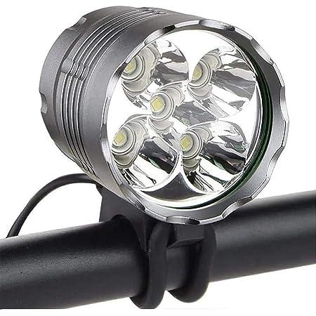 Soporte de Manillar SFBBBO luz Bicicleta 6000LM Luz de Bicicleta 2X XML-L2 Luz de Bicicleta LED con bater/ía Recargable USB Luz Delantera de Ciclismo