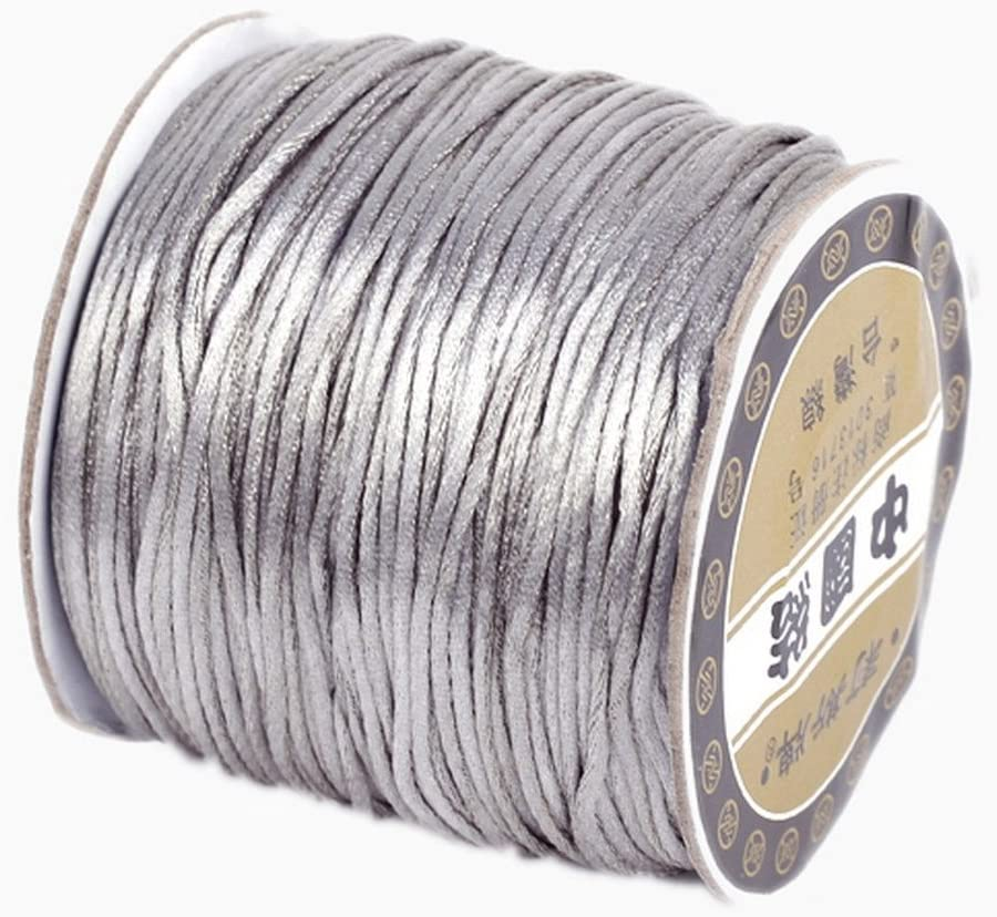 Fresno Mall Bigood 70m 1.5mm Nylon Max 63% OFF Beading Chinese Trim String Knotting Cord