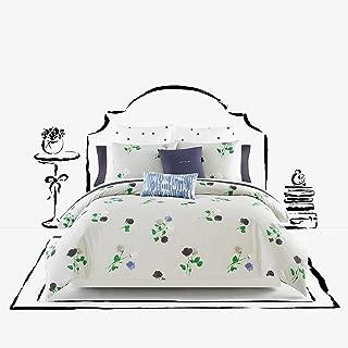 Kate Spade Willow Court 2 Piece Comforter Set, Platinum Grey Green Blue Floral TWIN/ XL