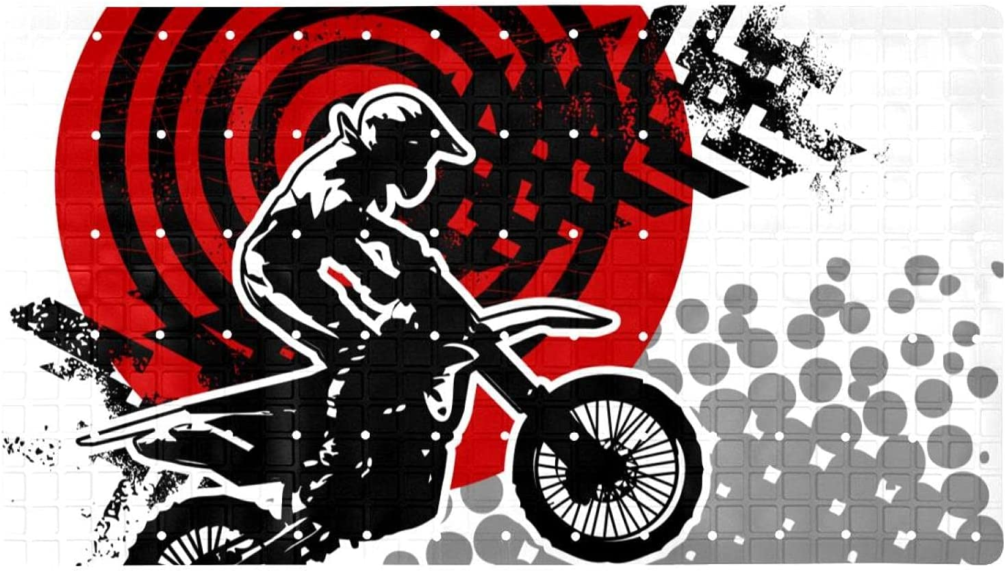 Bath Tub Shower Mat 15.7x27.9 Motocross Background Print Free Shipping Cheap Bargain Gift inches Wholesale