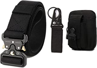 WuXingMeiLi Cinturón táctico de los hombres Estilo militar con nosotros Cinturón de nylon de alta resistencia para el entr...
