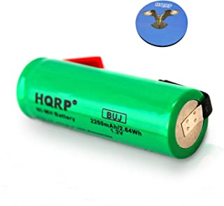 HQRP 49x17mm Battery Works with Braun Oral-B Triumph ProCare 9900 9500 9400 9000 3731 Toothbrush Replacement + HQRP Coaster