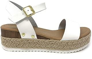 SODA Clip Topshoe Avenue Women's Open Toe Ankle Strap Espadrille Sandal