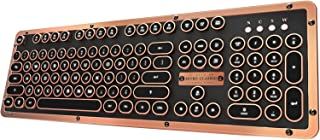 Azio Retro Classic Bluetooth Artisan - Luxury Vintage Backlit Mechanical Keyboard, Black/Copper (MK-RETRO-L-BT-03-US)
