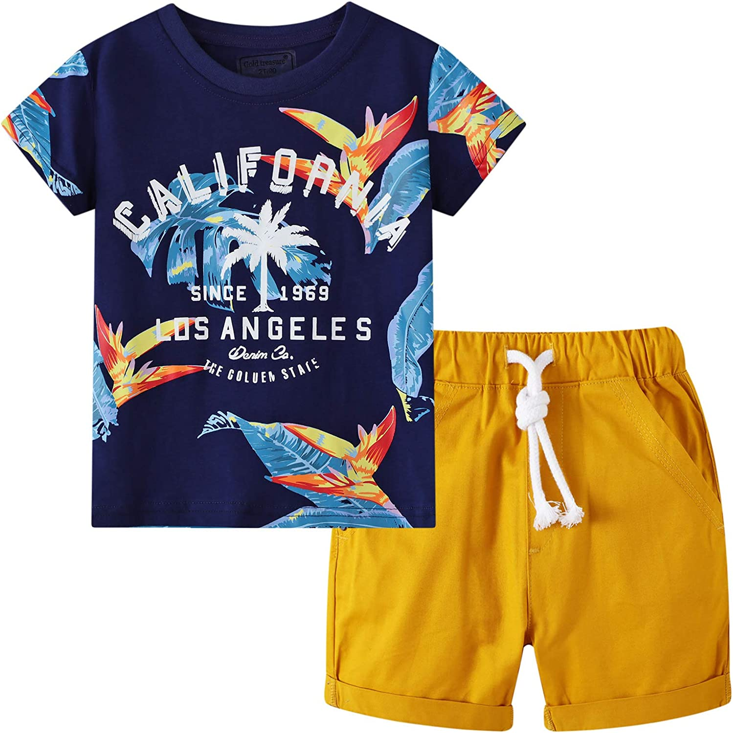 Boy Summer Outfits Toddler Short Sets Cotton T-Shirt and Pants 2-Piece Clothes