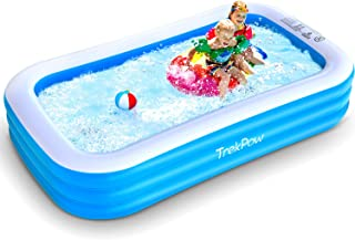 """TrekPow Inflatable Swimming Pool, 110""""x65""""x20"""" Full-Sized Blow Up Pool for Backyard Outdoor"""