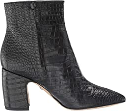 Black Kenya Croco Emboosed Leather
