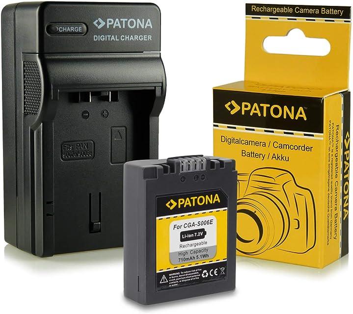 Cargador + Batería CGA-S006 / CGA-S006E para Panasonic Lumix DMC-FZ7   DMC-FZ8   DMC-FZ18   DMC-FZ28   DMC-FZ30   DMC-FZ38   DMC-FZ50