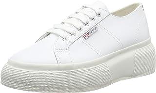 Superga Women's 2287 Nappa Lea Trainers White