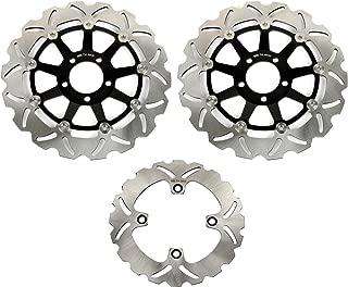 Bel/äge Set passende GSF 600 00-04 SV 650 S 99-02 GSX 750 F 98-02 TARAZON Vorne Hinten Bremsscheiben